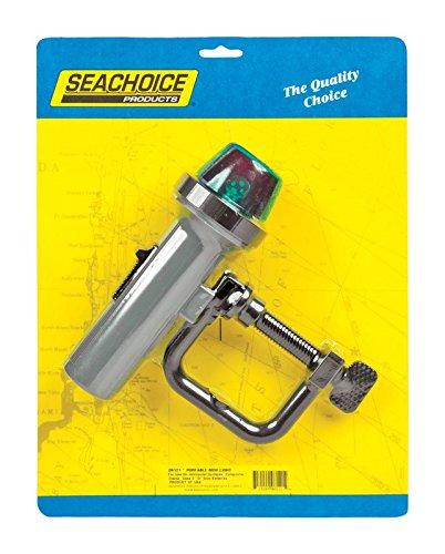 (SEACHOICE 6121 Bi-Color Portable Battery Operated Bow Light, Grey)