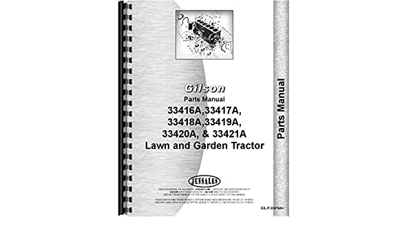 51kwOoMZ5JL._SR600%2C315_PIWhiteStrip%2CBottomLeft%2C0%2C35_SCLZZZZZZZ_ amazon com gilson 33421a lawn and garden tractor parts manual home