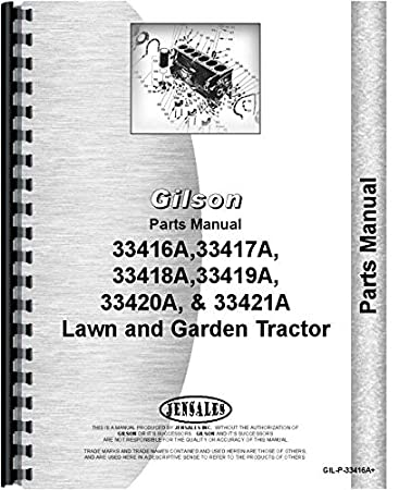 51kwOoMZ5JL._SY450_ amazon com gilson 33421a lawn and garden tractor parts manual home