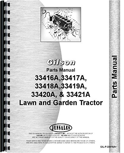 Gilson 33416A Lawn and Garden Tractor Parts Manual - Lawn Manuals Tractor