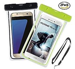 Ycloud [2 Pack] PIX8 Funda Sumergible Universal para Deportes acuaticos para Elephone R9, Homtom HT3 / HT3 Pro, Elephone Vowney/Vowney Lite, para teléfono móvil 4-6 Pulgada -(Azul+Negro): Amazon.es: Electrónica