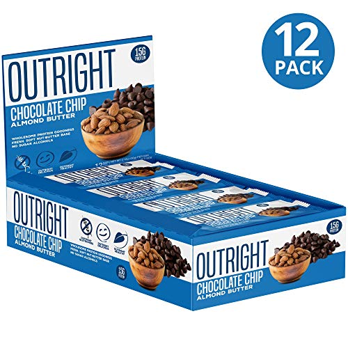 Outright Bar - Whole Food Almond Protein Bar - 12 Pack - MTS Nutrition - Almond Butter Chocolate Chip