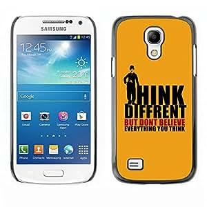 PC/Aluminum Funda Carcasa protectora para Samsung Galaxy S4 Mini i9190 MINI VERSION! Think Different; / JUSTGO PHONE PROTECTOR