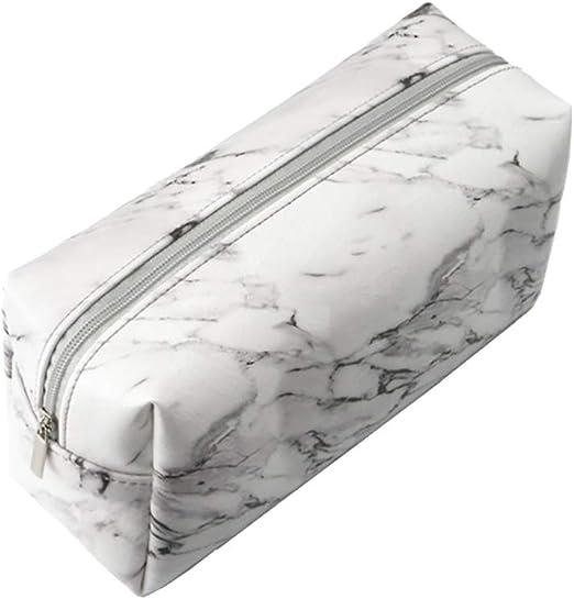 Hustar - Estuche de Maquillaje con Textura de mármol de Poliuretano, para la Escuela: Amazon.es: Hogar