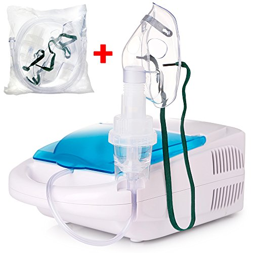 TTstar Compressor System Personal Cool Mist Inhaler kit for Adults and Children with 1 Set Accessories Kit, 5 Replacement (Asthma Treatment)