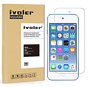 ivoler [2 Pack] [Tempered Glass] Screen Protector Compatible iPod Touch 6G (6th Generation) / 5G (5th Generation), [0.2mm Ultra Thin 9H Hardness 2.5D Round Edge] with Lifetime Replacement Warranty