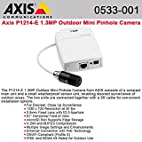 Axis Communications P1214-E Indoor/Outdoor Network Camera, 2.8mm F2.0 Fixed Iris Lens, Up to 25/30 fps, 720p, PoE, IP66-Rated Sensor Unit