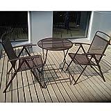 Cheap BenefitUSA S-405-COFFEE Patio Table and Chair Set, Coffee