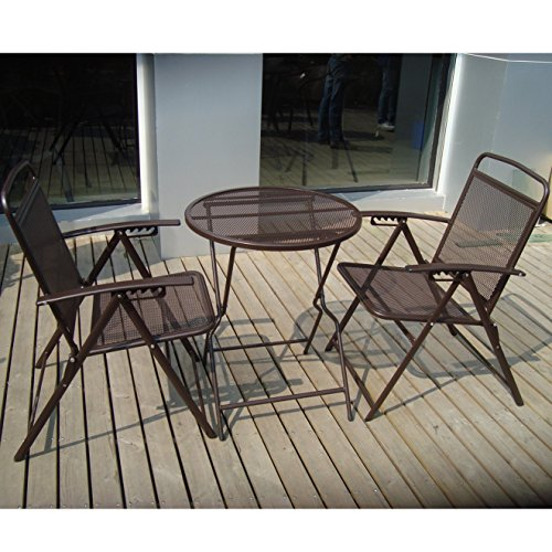 BenefitUSA S-405-COFFEE Patio Table and Chair Set, Coffee