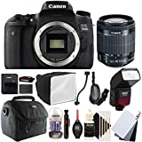 Canon EOS 80D 24.2MP Digital SLR Camera with 18-55mm EF-IS STM Lens , SFD-740C Speedlite Flash and Accessory Kit