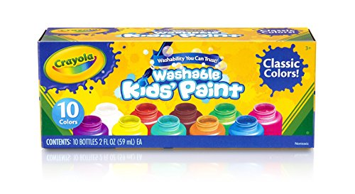 Amazon Crayola Washable Kids Paint Assorted Colors 10 Ea Office Products
