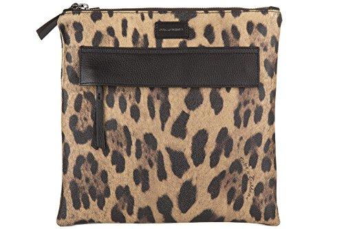 Price comparison product image Dolce&Gabbana men's leather cross-body messenger shoulder bag leo brown