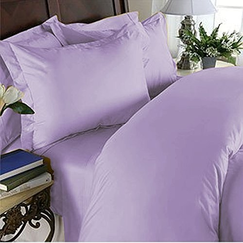 Nile Bedding Collection Luxury Hotel Bed Sheets Set Egyptian Cotton 600 Thread Count Sateen 4 PCs Sheets -Fitted Sheet Fit up to 8 Inches Deep Pocket Lavender Solid King-XL Size