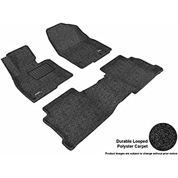 2014 2012 2016 Cadillac SRX Black with Red Edging Driver /& Passenger Floor 2011 2013 GGBAILEY D2540A-F1A-BLK/_BR Custom Fit Car Mats for 2010 2015