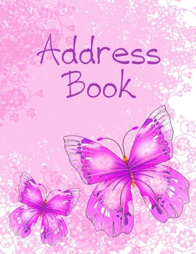 Address Book: Large Print - Pink & Purple Butterflies (Revolutionary NEW User-Friendly Address Book Layout That Puts YOU In Control and Eliminates Wasted ()