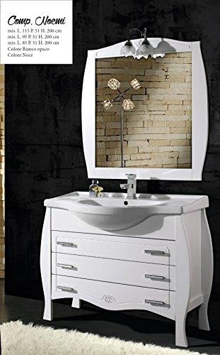 mobile da bagno con lavabo e specchio Noemi 115 Per Arredo Bagno ...
