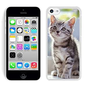 LJF phone case Personalized Hard Shell Cute Christmas Cat White Hard Shell ipod touch 5 Plastic Phone Case
