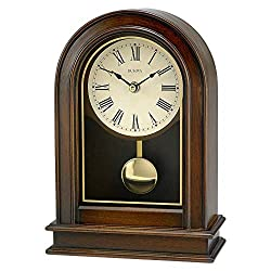 Bulova B7467 Hardwick Clock, Walnut Brown (Renewed)