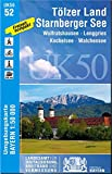 UK50-52 Tölzer Land, Starnberger See: Wolfratshausen, Lenggries, Kochelsee, Walchensee (UK50 Umgebungskarte 1:50000 Bayern Topographische Karte Freizeitkarte Wanderkarte)