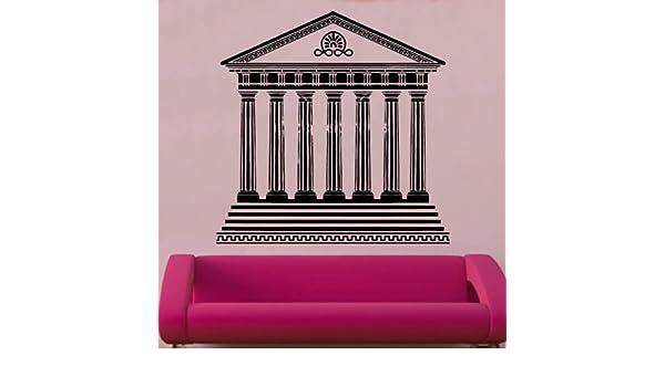 Kult Kanvas AIN6 1 - Adhesivo Decorativo para Pared, diseño de Templo Griego, Plata, L 60 cm x 60 cm: Amazon.es: Hogar