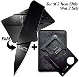 ShieldSurvival ddghf Gifts for Men Gadgets (Set of 2) Credit Card Size Tool and Knife (Black Sets of 2)