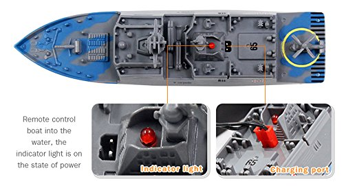 3318 Remote Control Boat, oldeagle 2.4 G Remote Control Challenger Aircraft Carrier RC Boat Warship Battleship for Kids Toy (Camouflage)