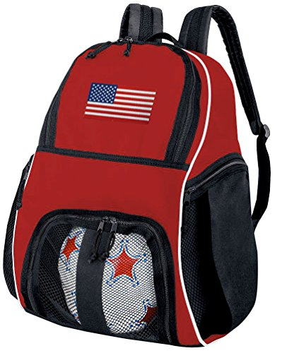 Broad Bay American Flag Soccer Ball Backpack or USA Flag Volleyball Bag by Broad Bay