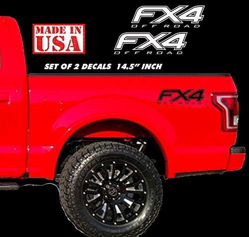 (2015-2019 Ford F150 f250 FX4 Off Road Decals - F Offroad Stickers Truck Bed)