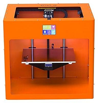 Pure Orange colored CraftBot PLUS 3D printer.