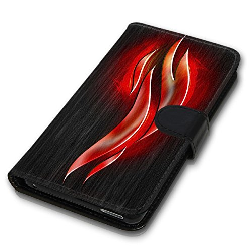 Wallet Book Style Flip Handy Tasche Case Schutz Hülle Schale Motiv Etui für Apple iPhone 6 Plus / 6S Plus - Design Flip MV234