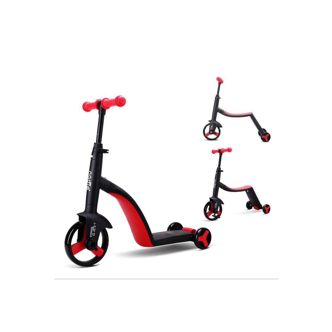 【オープニング 大放出セール】 TLMYDD Red スクーターベビーカー子供の三輪車スリーインワンスクーター自転車ベビーカー70×29×76センチ いえろ゜) 子供スクーター (色 : イエロー Red いえろ゜) B07NMGCVVD Red Red, Boutique de Bonheur:9f3d5469 --- a0267596.xsph.ru