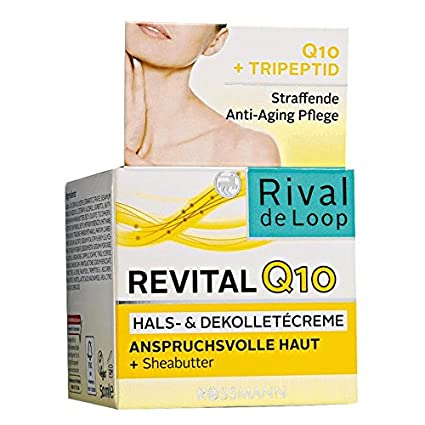Rival de Loop 50 ml revital Q10 Collar & dekolleté Crema exigentes piel + sheabu tter