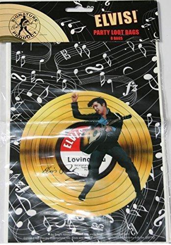 Elvis Presley Party Loot Bags 8 Count ()