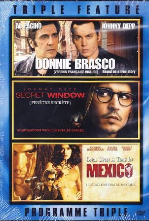 Donnie Brasco / Secret Window / Once Upon A Time In Mexico (Triple Feature)