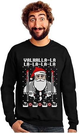 Tstars Viking Nordic God Valhalla Mythology Ugly Christmas Sweater Sweatshirt