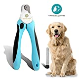 No pain Dog Nail Clipper & Trimmer -- Safety Switch to prevent over
