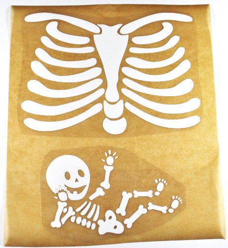 Pregnant Skeleton DIY Iron-on -