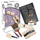 faux painting techniques The Woolie Original and Woolie 2-Color Dual Split Roller Deluxe Multi-Techniques Sheepskin/Lambswool Faux Painting Kit for