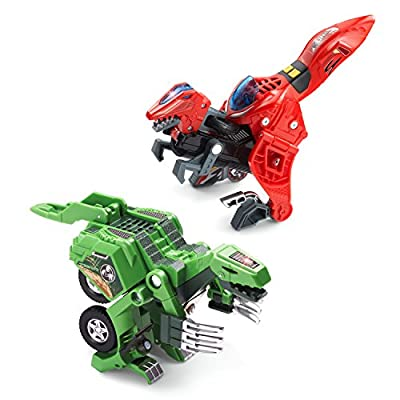 VTech Switch & Go Dinos - Cretaceous Dinos 2-pack with Akuna & Torr