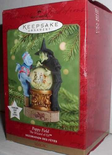 2001 Hallmark The Wizard Of Oz~ Poppy Field~ Featuring the Wicked Witch of the West and her Flying Monkey - Wicked Witch Of The West Flying