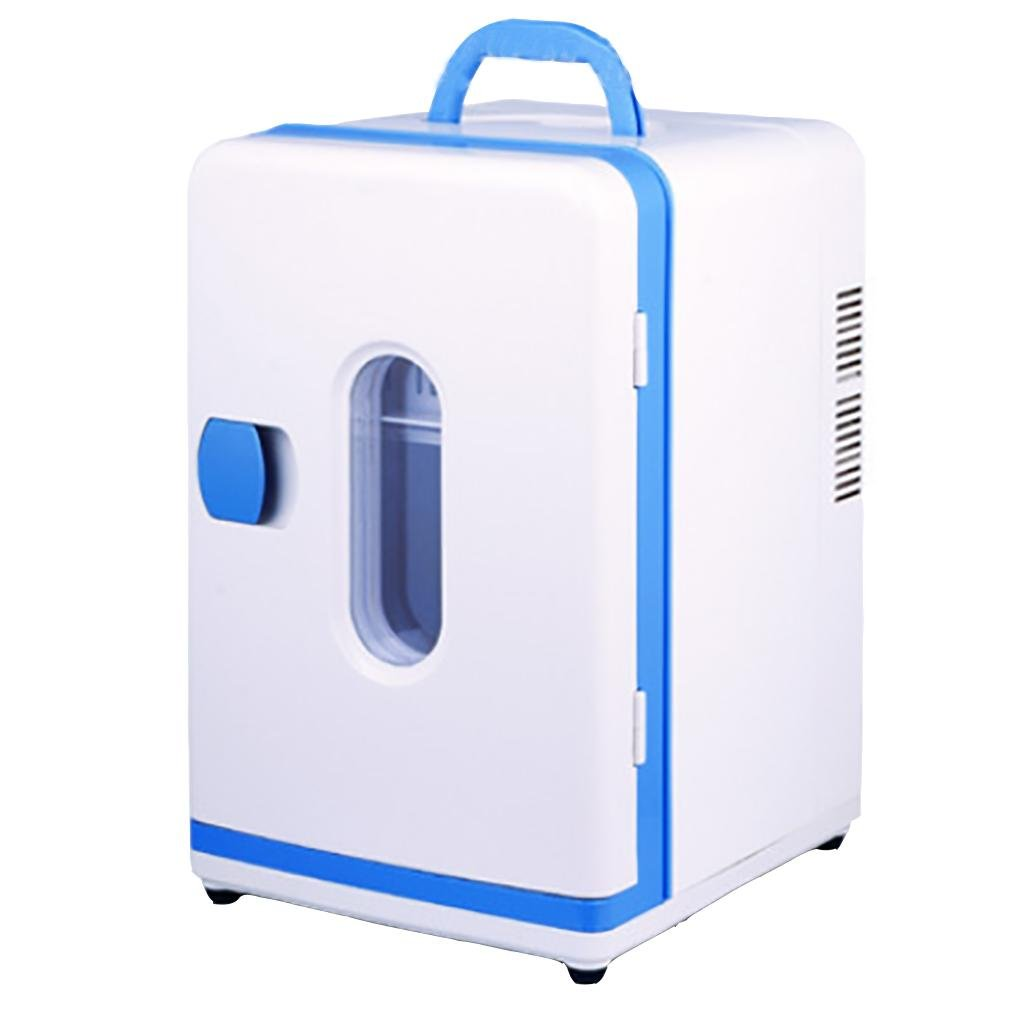LPY-12L Mini Fridge, Dual Cooling / Heating Mini Fridge, Blue And White