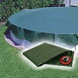 Piscina telo di copertura/telone con 180g/m² invernale per piscine rotonde con diametro. 550cm