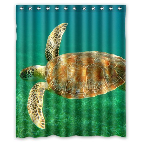 InterestPrint Sea Turtle Waterproof Polyester Fabric 60