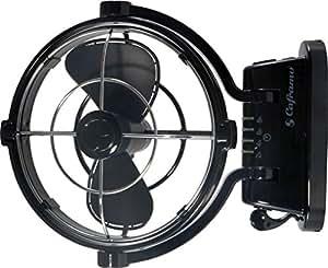 Caframo Sirocco 12V Gimbal 3 Speed Fan, Black, Small