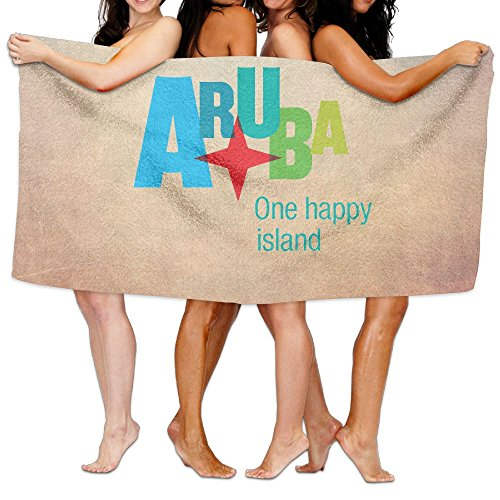 Huajsu Creative Aruba LOGO Fast Drying Beach Towel Pool Swimming Bath Sheet Perfect For Home&Sport