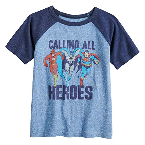 Jumping Beans Little Boys' 4-12 Calling All Heroes Tee 6 Roy/NVY -