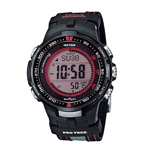 Casio Mens Pro Trek TRIPLE SENSOR Digital Sport Solar Watch (Imported) PRW-3000G-1D (Watch Protrek Casio Sport)