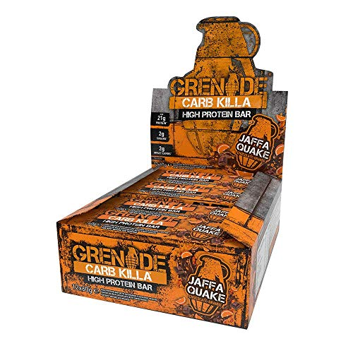 Grenade Carb Killa High Protein and Low Carb Bar, 12 x 60 g - Jaffa Quake