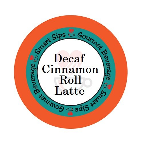 Smart Sips Coffee, Decaf Cinnamon Roll Latte, For Keurig K-cup Brewers, 24 Count, Decaffeinated