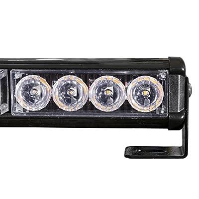 """DIYAH 16 LED 18"""" Emergency Warning Traffic Advisor Vehicle LED Strobe Light Bar (White): Automotive"""